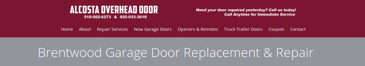 Brentwood Garage Door Replacement & Repair