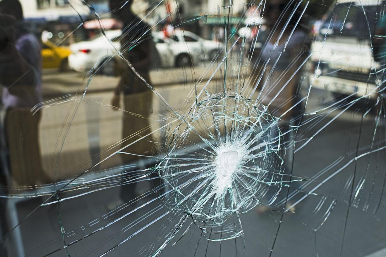 Broken Store Window